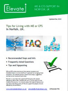 Elevate's general tips for living with ME or CFS in Norfolk.