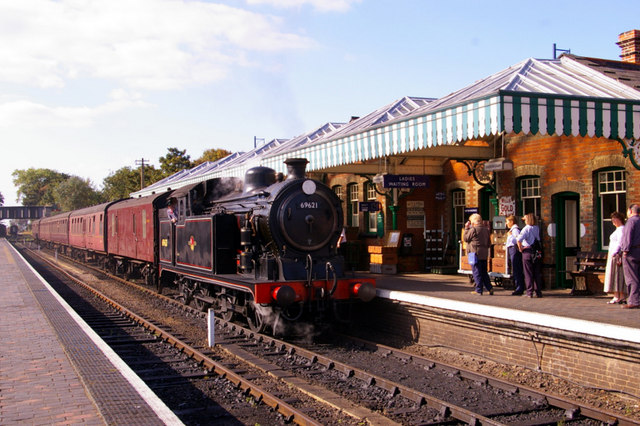 Steam train at Sheringham.