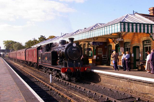 Steam train at Sheringham.